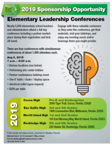 Elementary Conference Rate Card