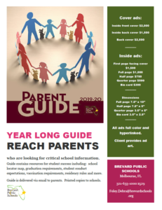 Parent Guide Rate Card